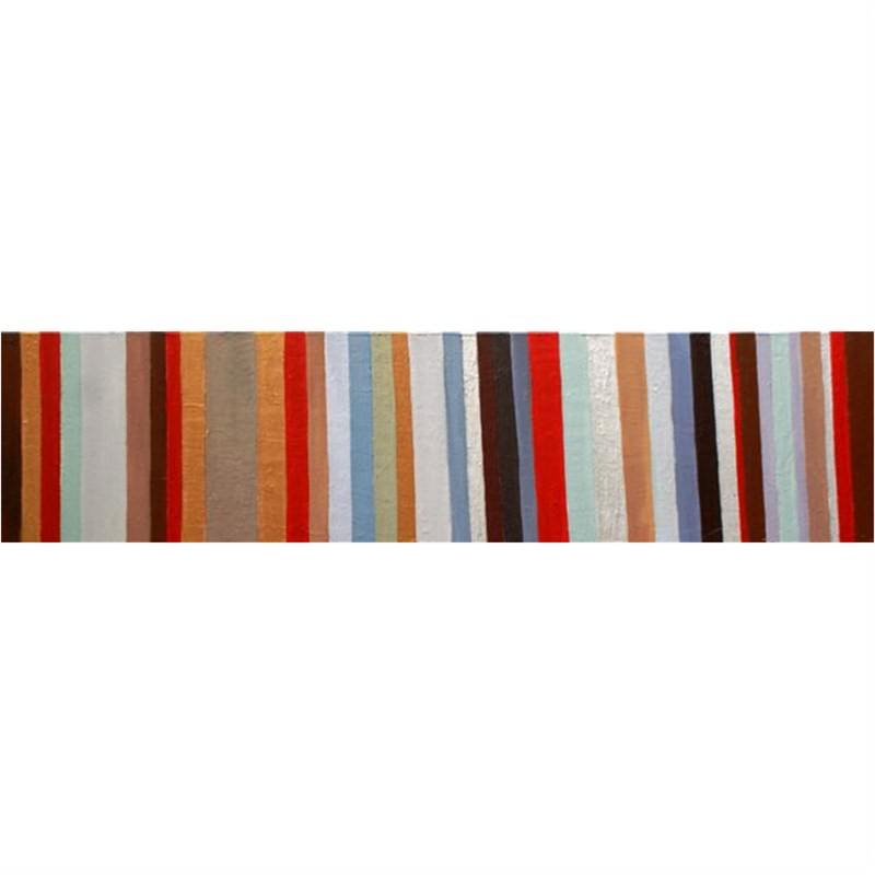 Copper Stripes - Hand Painted with Artist Signature - 200x50cm