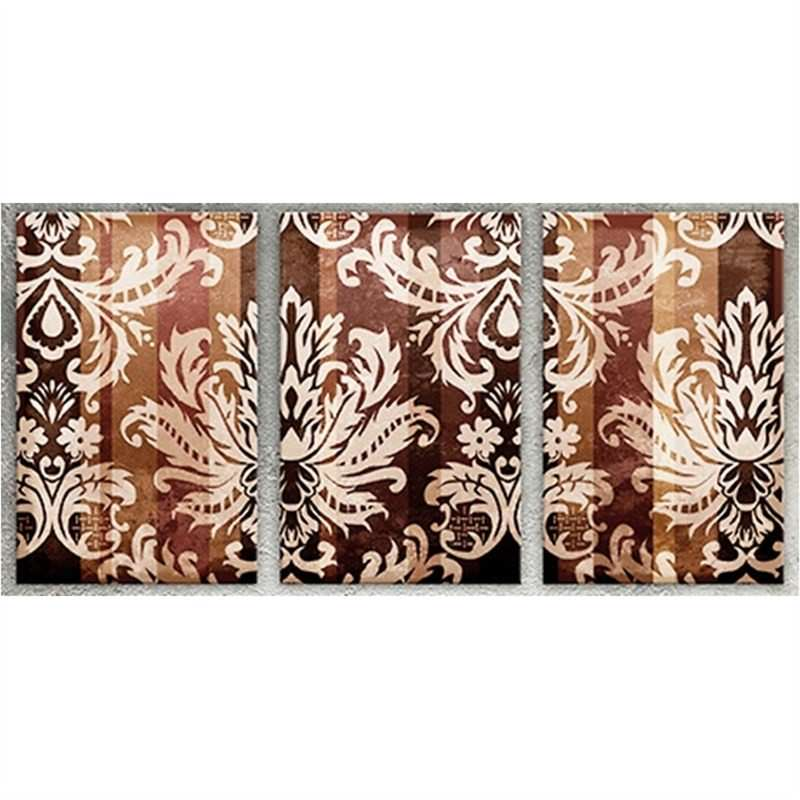 Damask-Gold Set of 3 Pieces - Hand Painted with Artist Signature