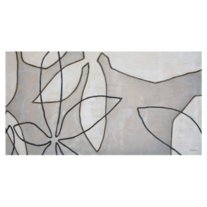 Natural Flower - Hand Painted - 150x80cm