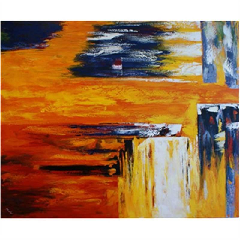 Orange Muse 180x150cm - Hand painted