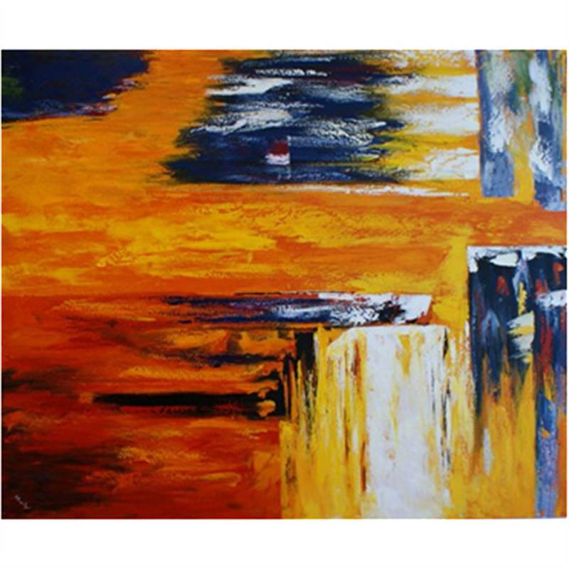 Orange Muse - Hand Painted with Artist Signature - 90x90cm