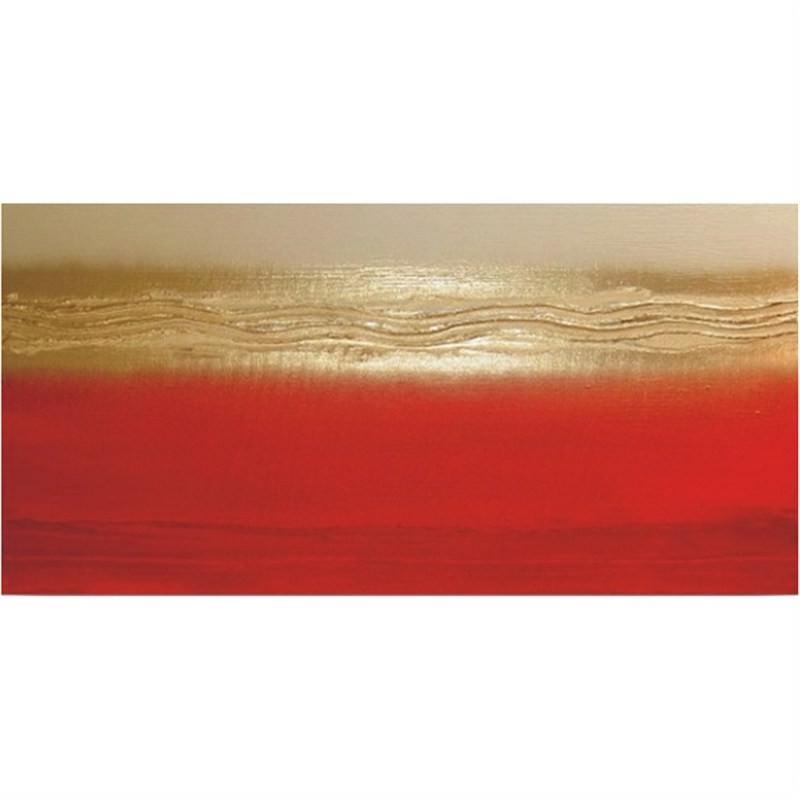 Red and Gold - Hand Painted with Artist Signature - 150x80cm