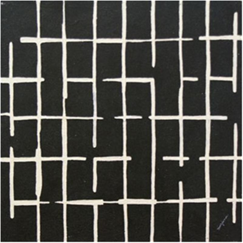 Squares-Black - Hand Painted with Artist Signature - 60x60cm