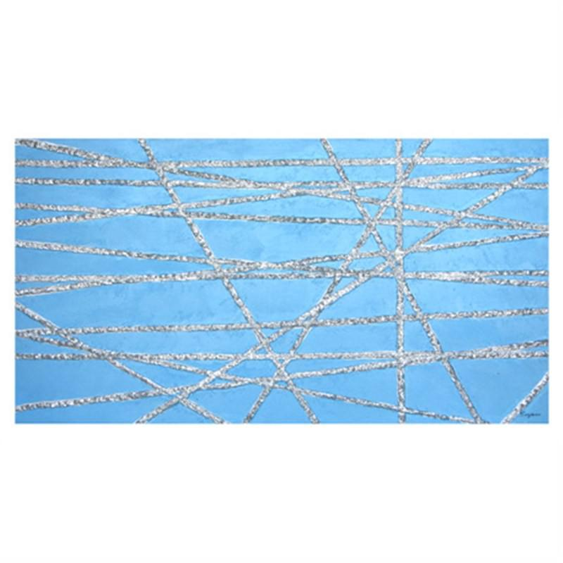 Cross Wires-Blue - Hand Painted with Artist Signature - 150x80cm