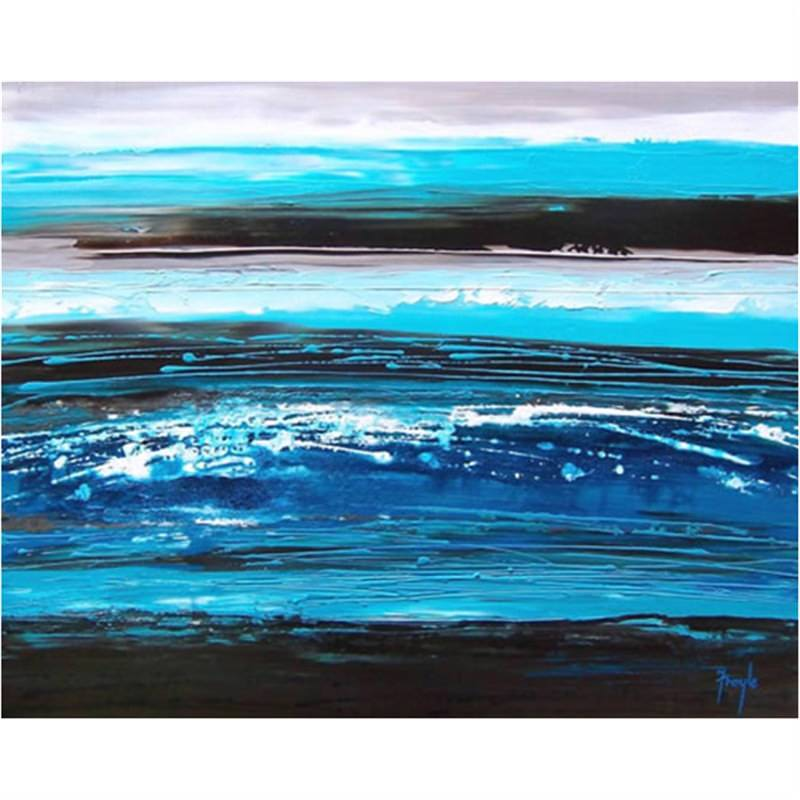 Sea of Blue 150x80cm - Hand painted
