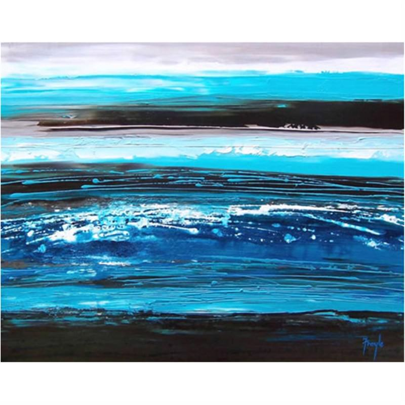Sea of Blue 200x50cm - Hand painted