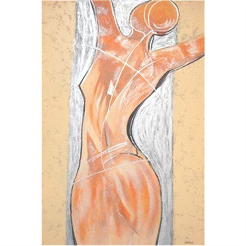 Silver Nude - Hand painted - 100x150cm