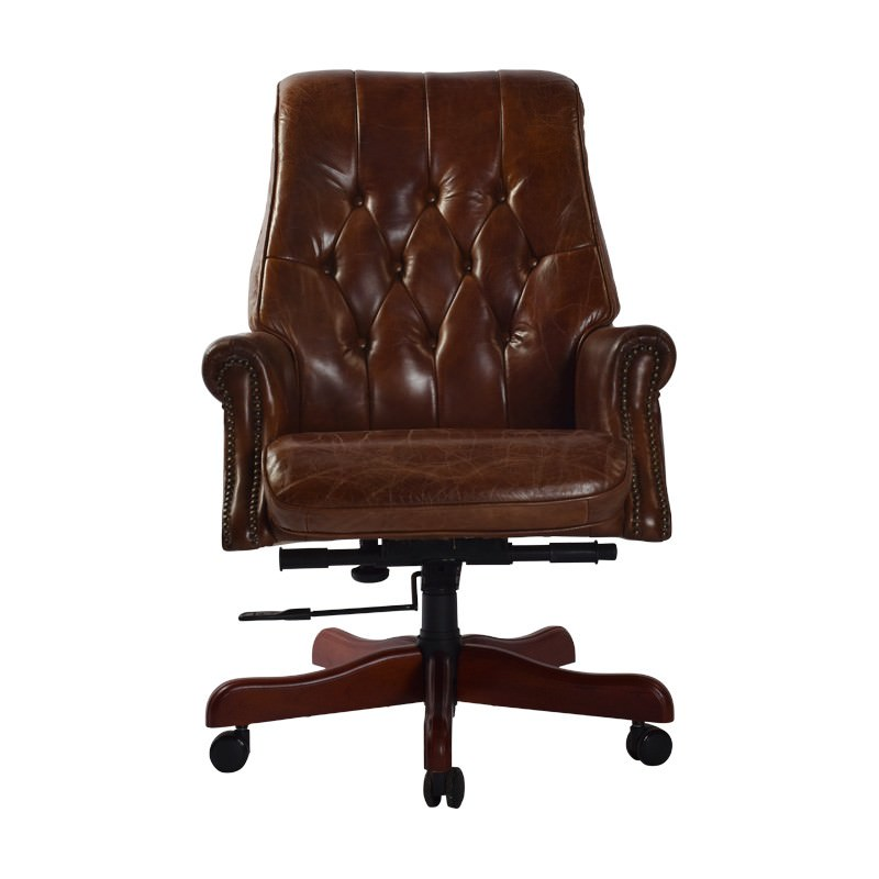 Osborne Aged Leather Bankers Chair