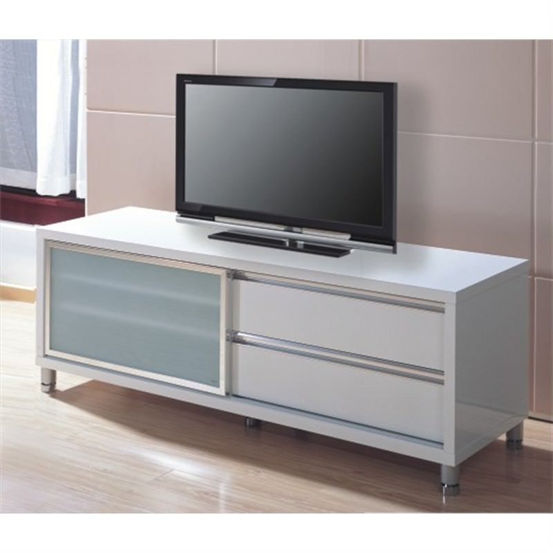 Sleek TV Unit in White