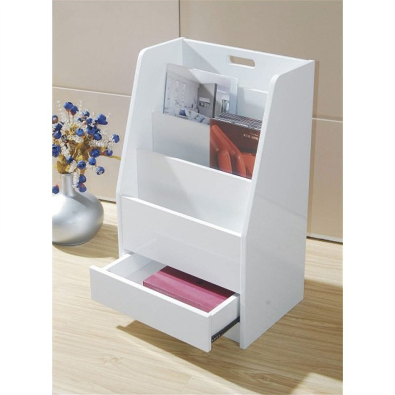 Gem Paper Rack Cabinet in White