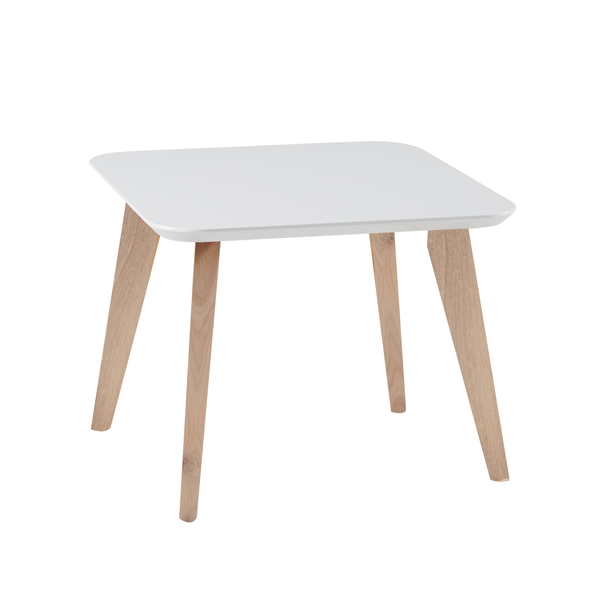 Alexandria Square Lamp Table, White Top