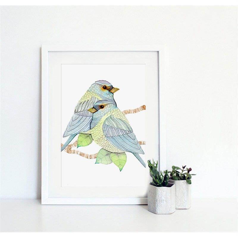 White Framed Canvas Print Wall Art - Fantasy Garden D
