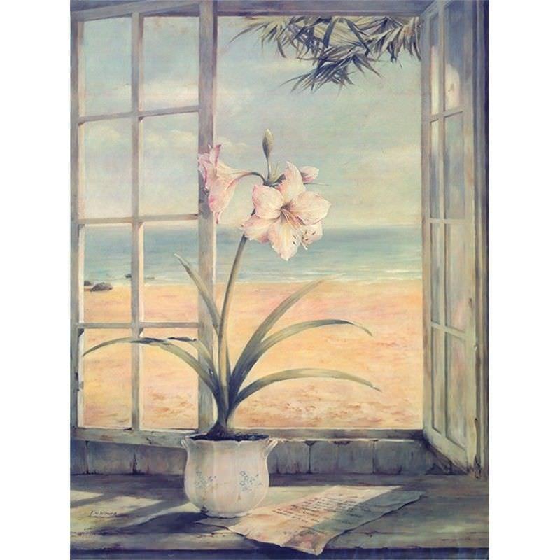Windowsill 40x60cm Cotton Canvas Print - Lily