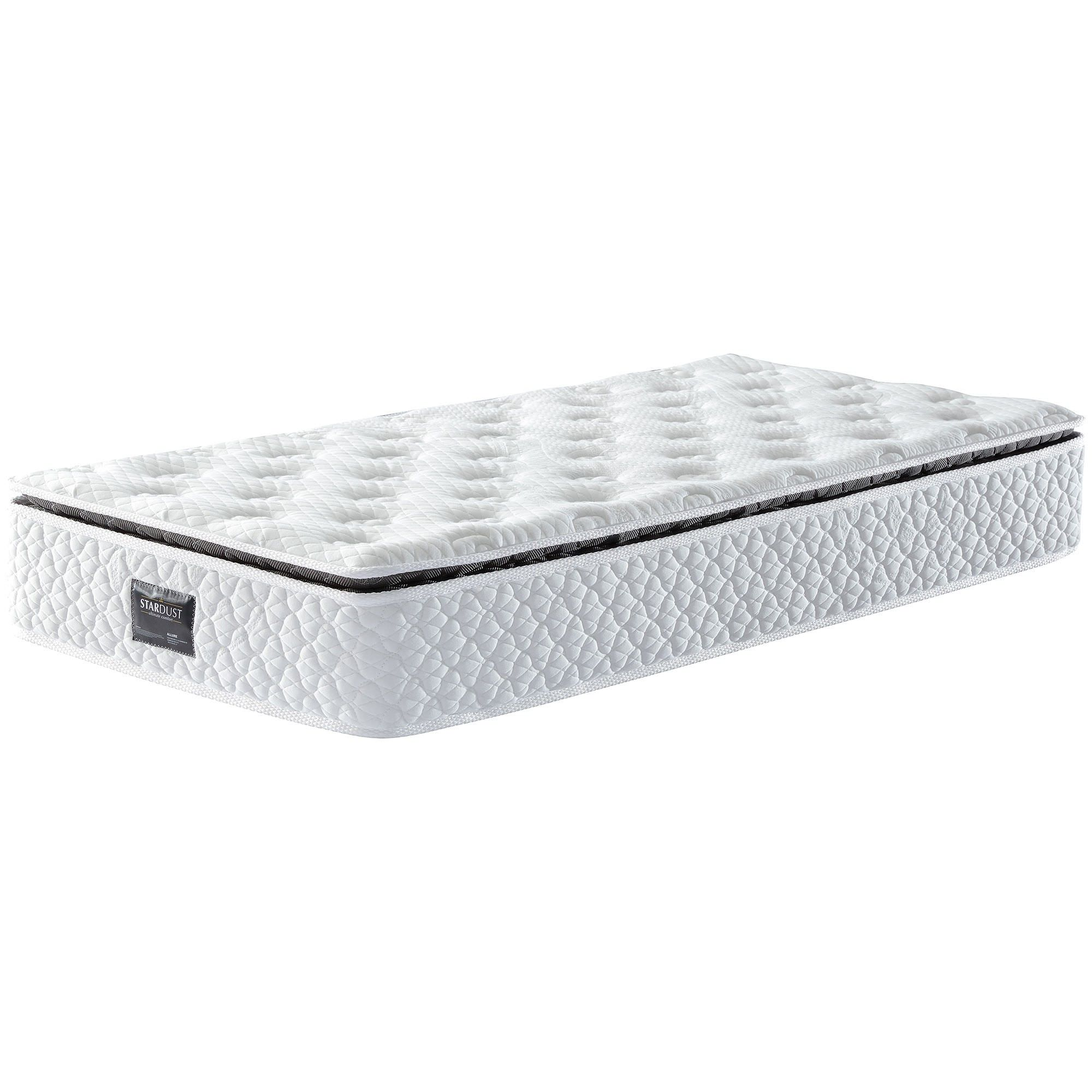 Stardust Allure Boxed Pocket Spring Medium Soft Mattress with Pillow Top, Single