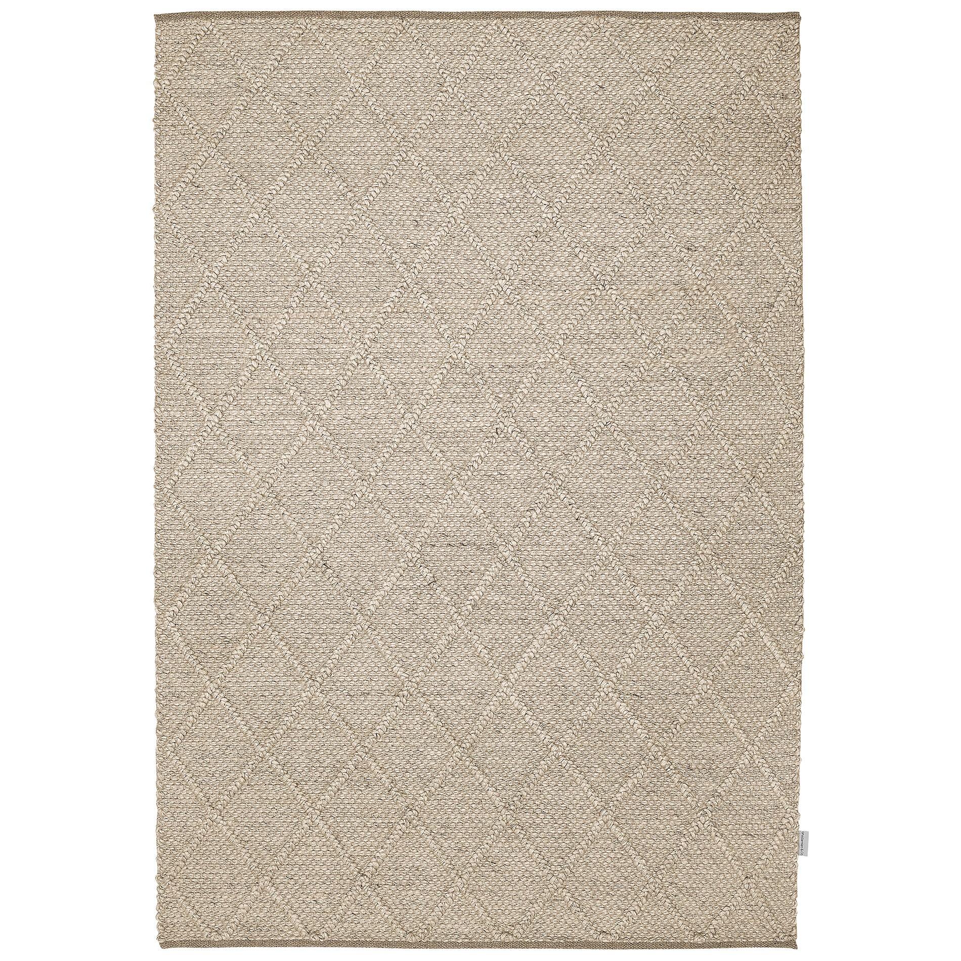 Alexia Modern Wool Rug, 225x155cm, Ivory