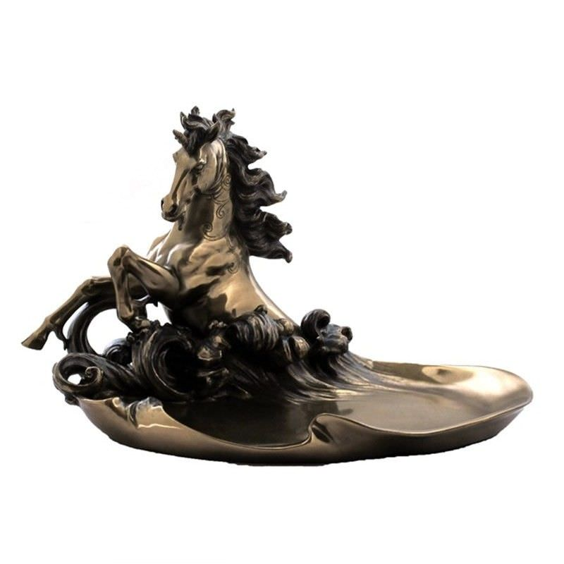 Cast Bronze Unicorn Jewellery Tray