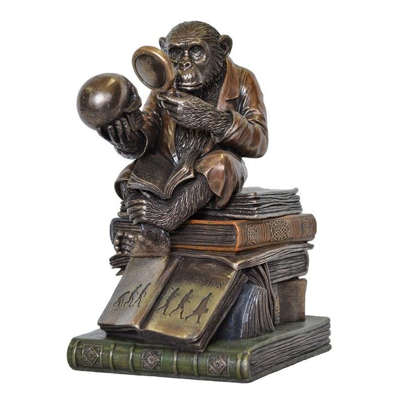Cast Bronze The Ape Thinker Trinket Box