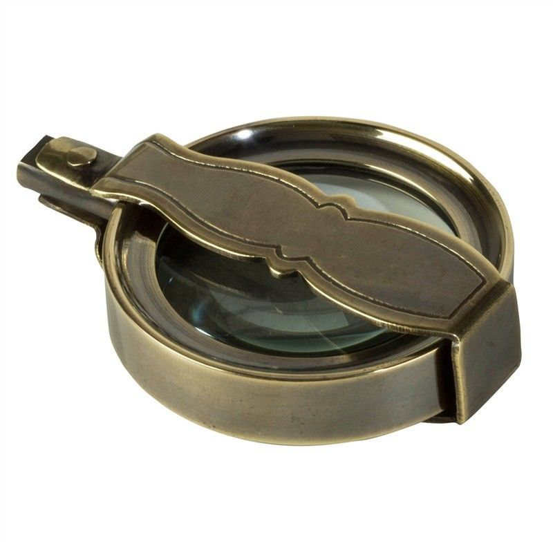 Travelers Solid Brass Magnifier