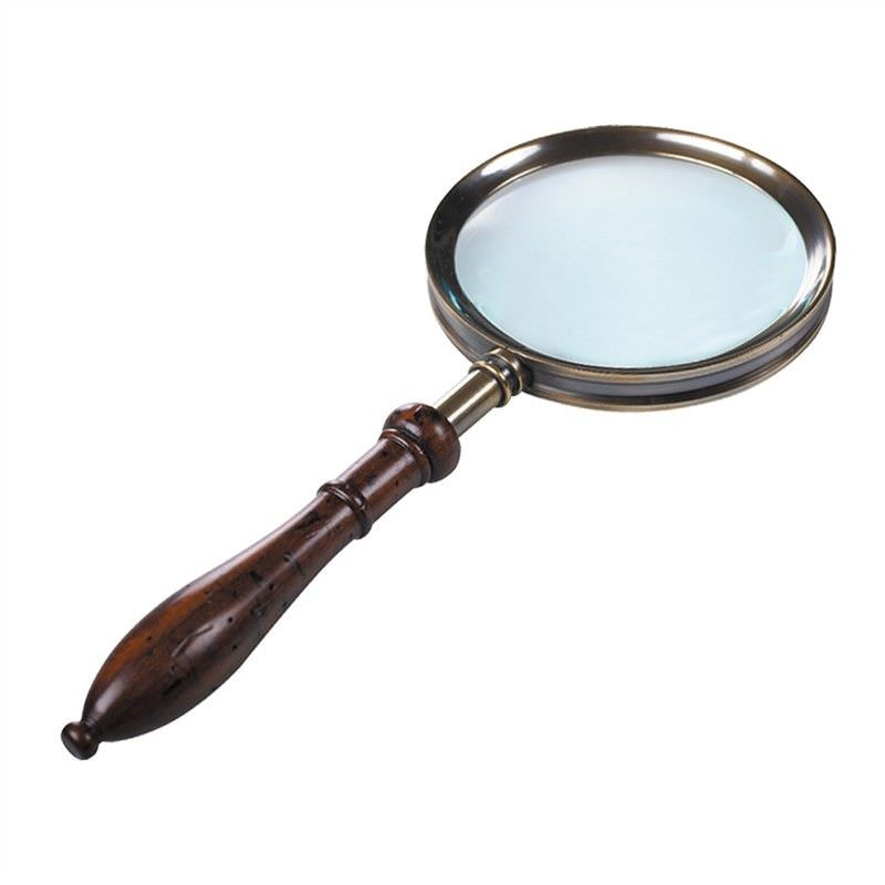 Regency Rosewood Handle Magnifier, Bronze