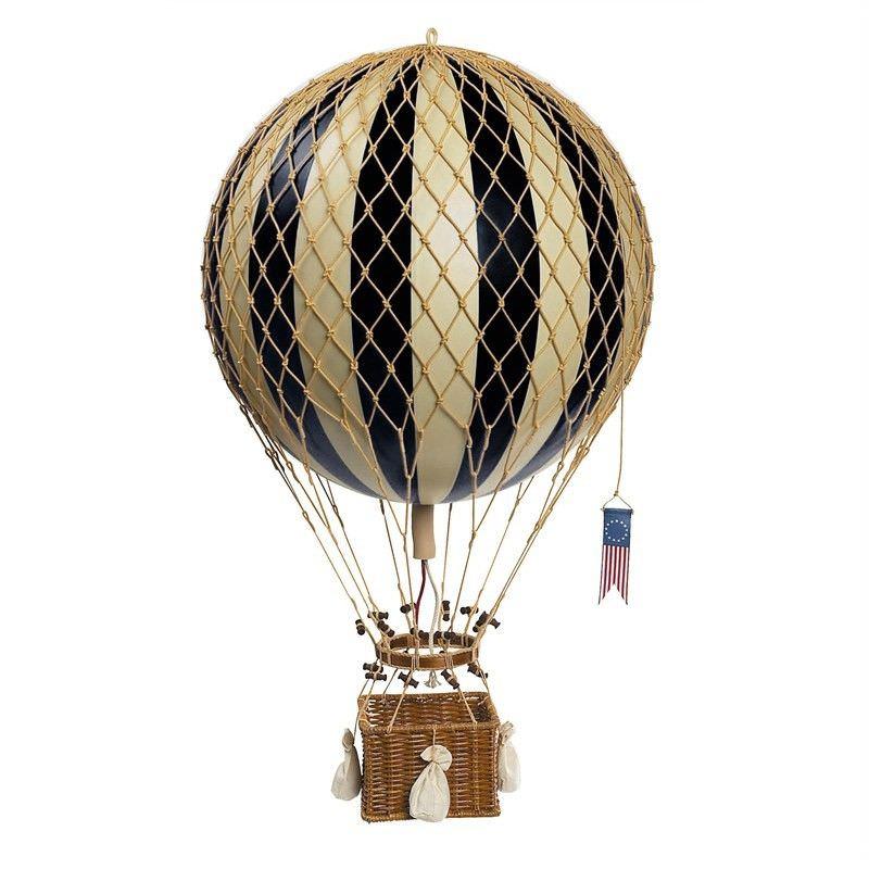 Royal Aero Hot Air Balloon Model, Black