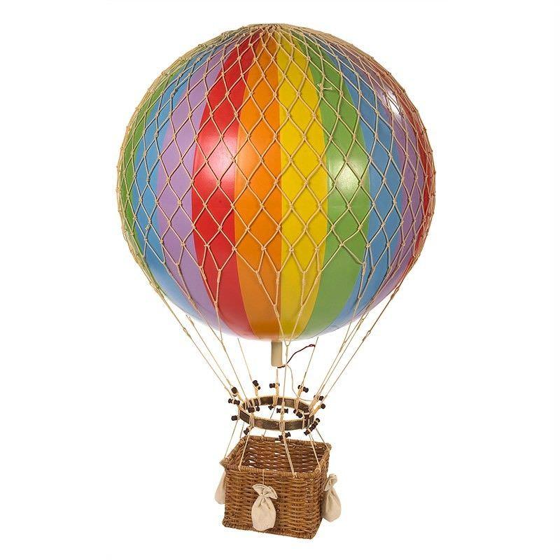 Jules Verne Hot Air Balloon Model, Rainbow