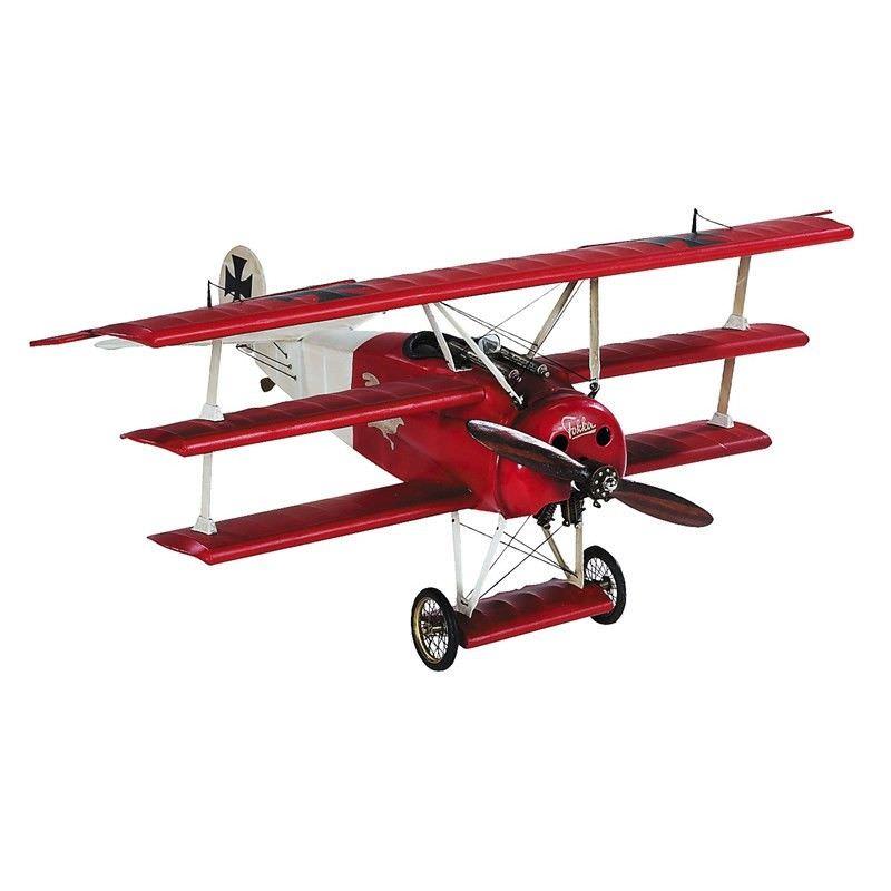 1917 Red Baron Fokker Triplane Scale Model - Small