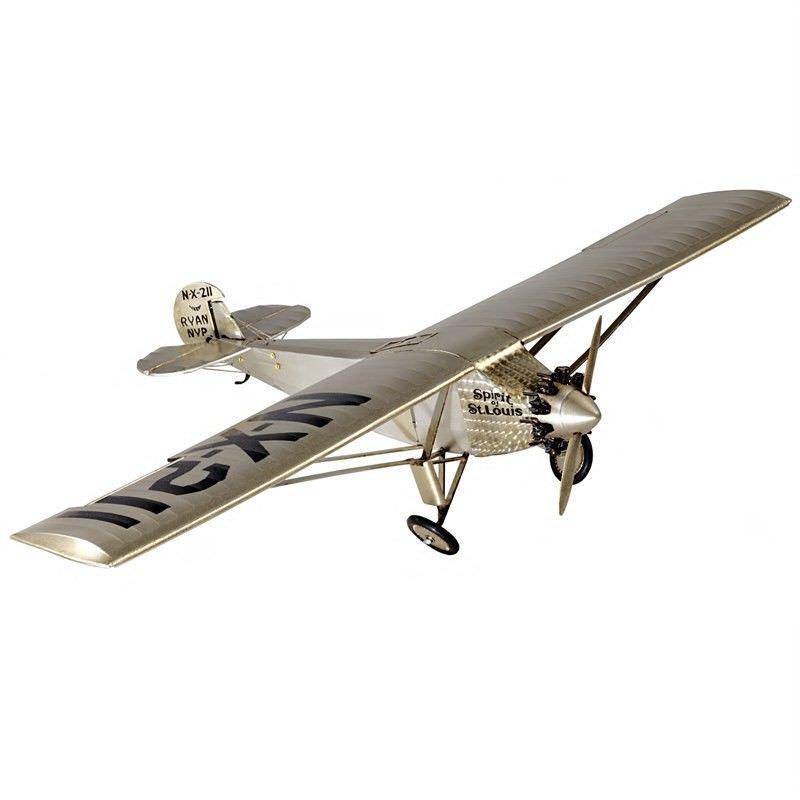 Spirit of St. Louis Airplane Aluminium Scale Model