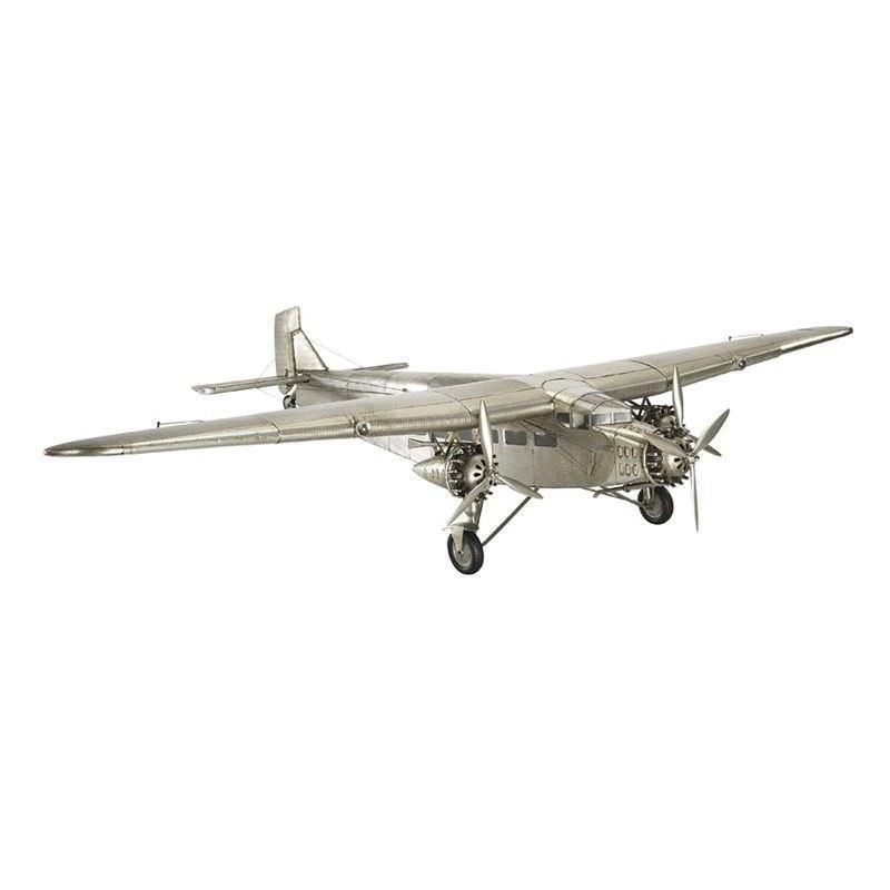 1930s Ford Trimotor Airplane Aluminium Scale Model