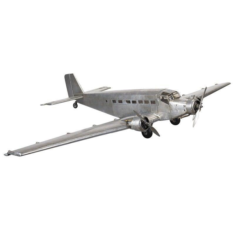 1930s Junker JU52 Airplane Aluminium Scale Model