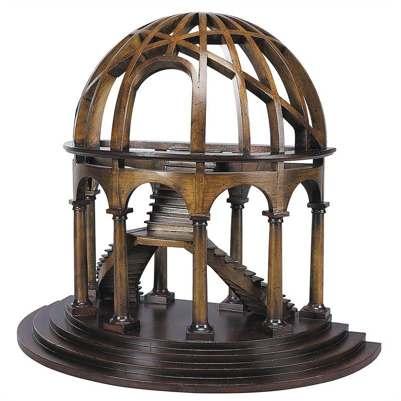 Handcrafted Solid Timber Demi Dome Model