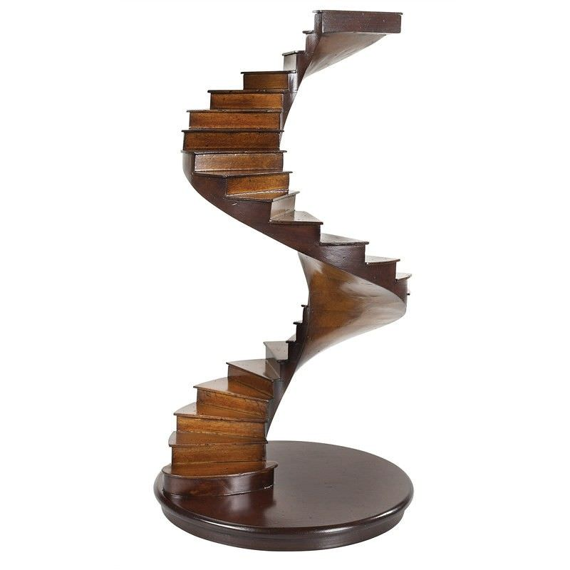 Handcrafted Solid Timber Spiral Stairs Model