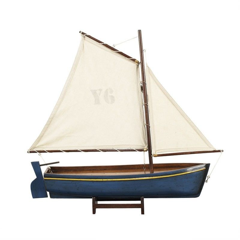 Madeira Y6 Hand Carved Sailboat Model