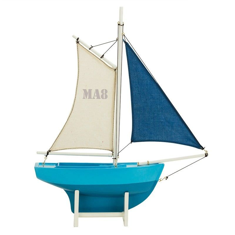 Blue Sailer MA8 Handcrafted Sailboat Model