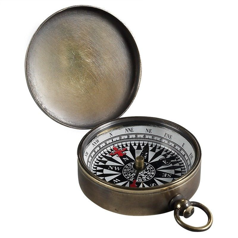 Charlotte Solid Bronze Pocket Compass