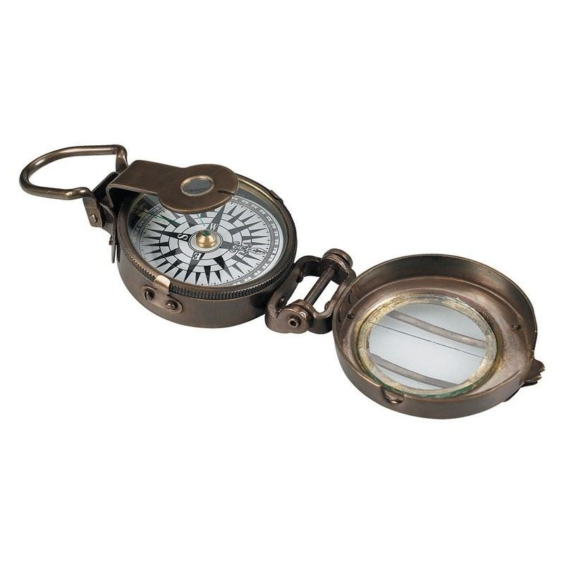 WWII Solid Bronze Compass