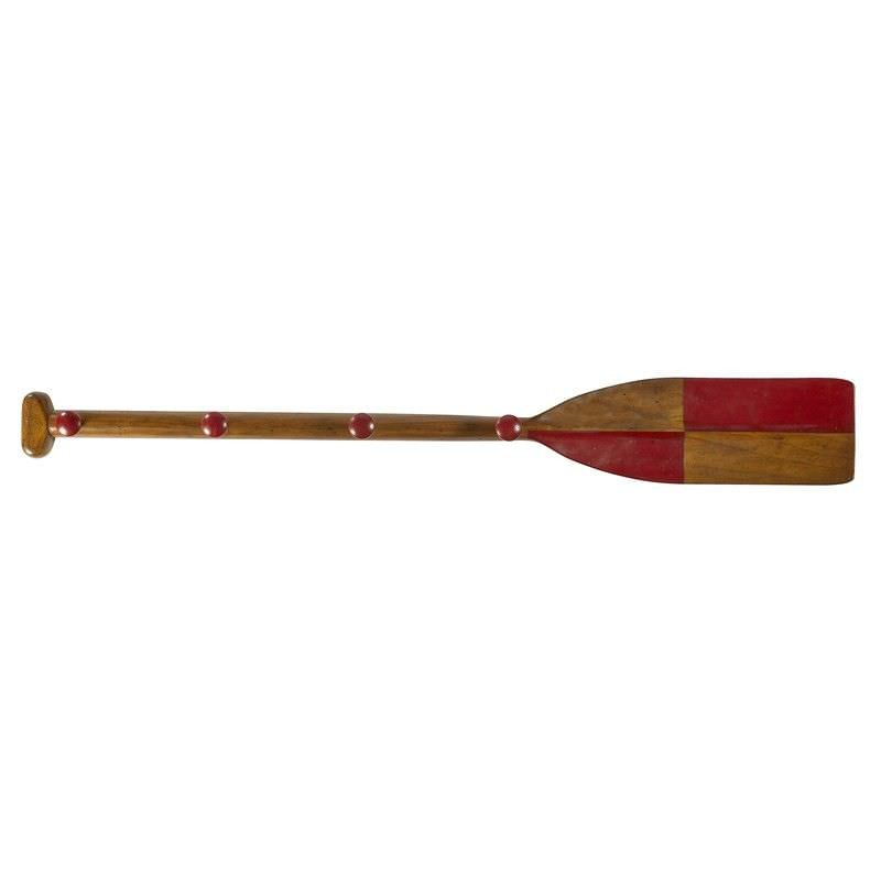 Solid Timber Red Oar Coat Rack