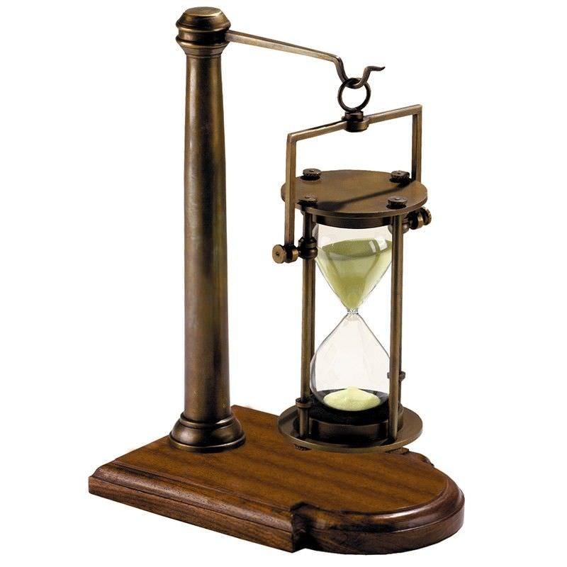 Strom Solid Brass 30 Minute Sandglass on Stand