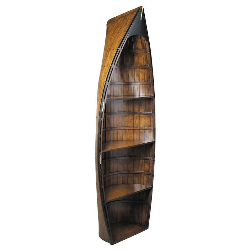 Bosuns Gig Solid Timber Row Boat Bookcase
