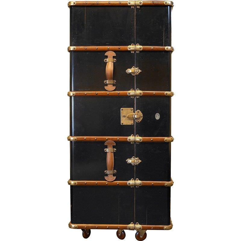 Stateroom Solid Timber Bar Trunk, Black