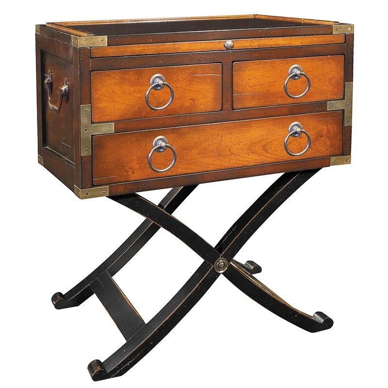 Bombay Solid Timber Box Side Table - Honey