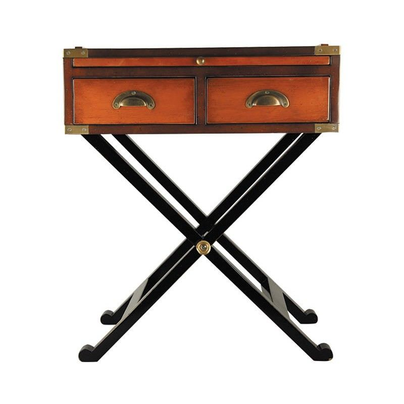 War Chest Solid Timber 2 Drawer Side Table