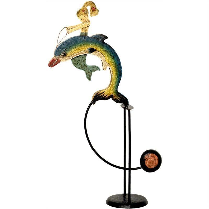 Hand Crafted Painted Metal Skyhook Balance Toy - Mermaid