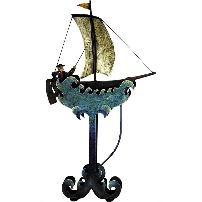 Authentic Models Hand Crafted Metal Skyhook Balance Toy, Riding The Waves