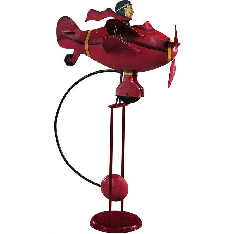 Authentic Models Hand Crafted Metal Skyhook Balance Toy, Red Baron 1917