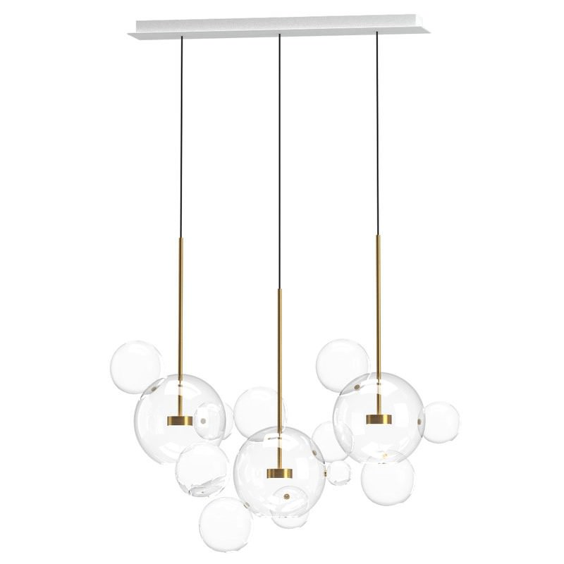 Replica Giopato Coombes Bolle 14 Bubbles Linear Chandelier
