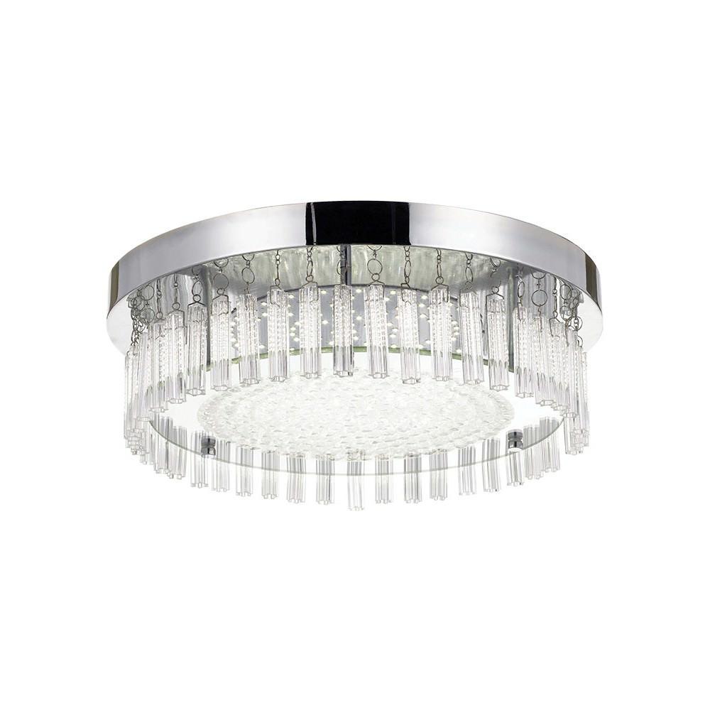 Andela LED Oyster Ceiling Light, Round