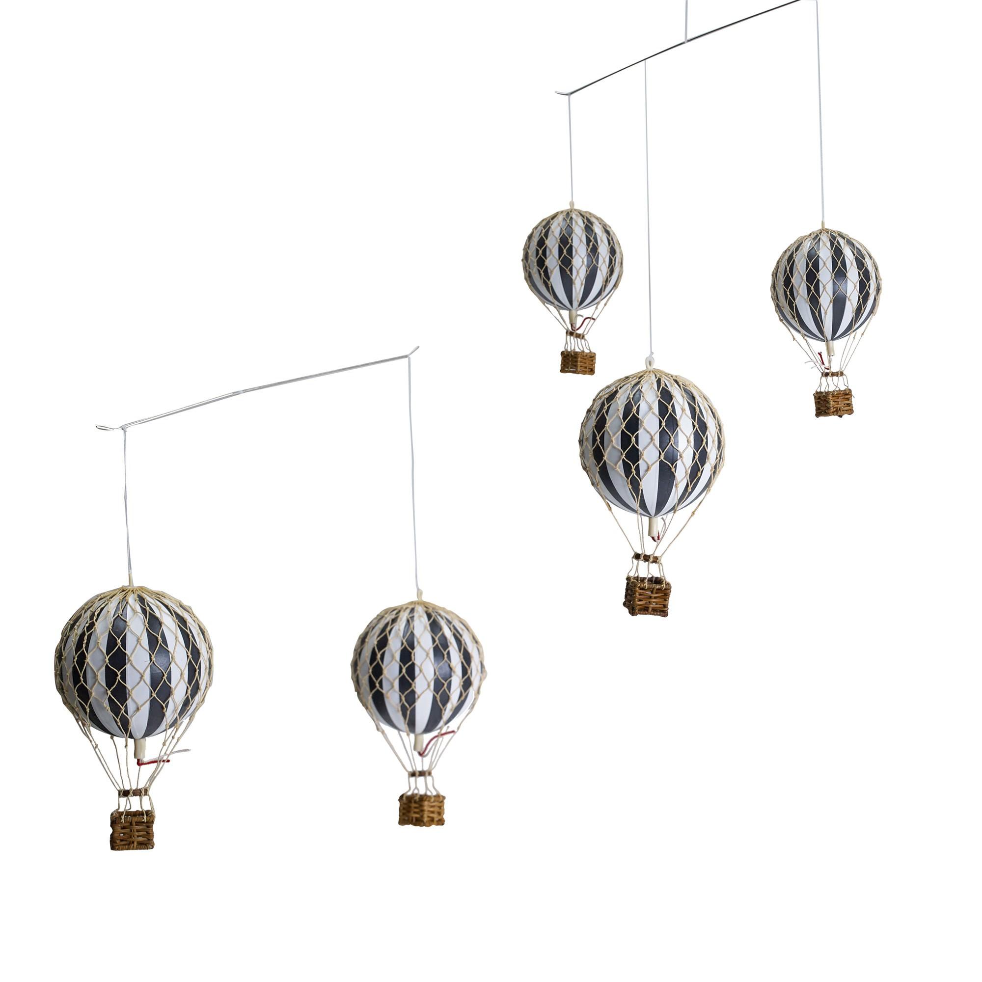 Flying The Skies Balloon Mobile Decor, Black / White