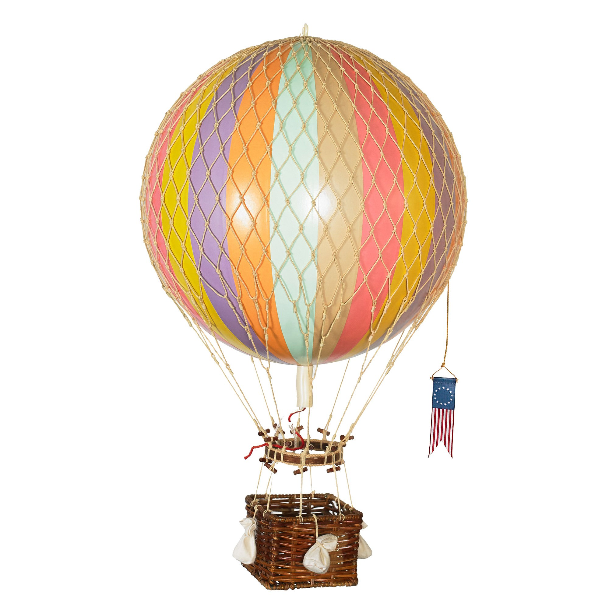 Royal Aero Hot Air Balloon Model, Pastel Rainbow