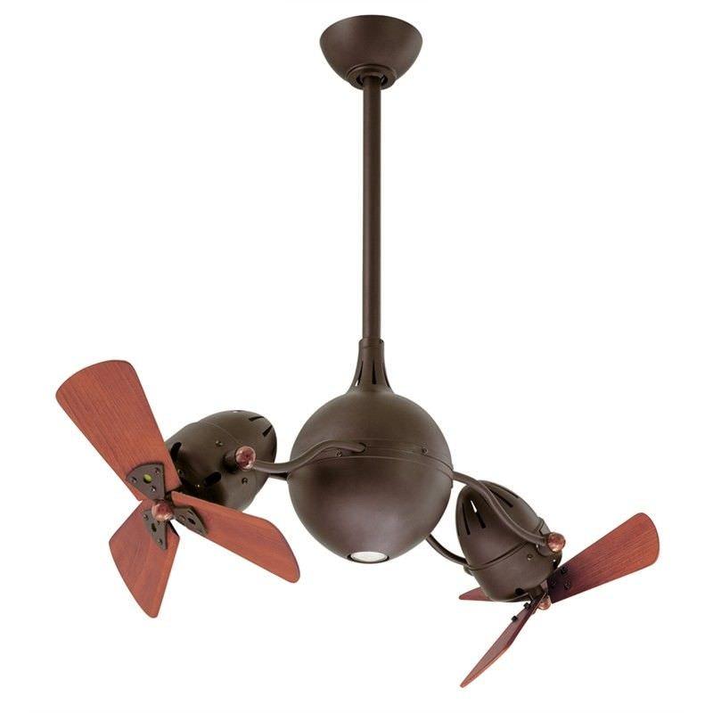 Atlas Acqua Commercial Grade Solid Wood Ceiling Fan - Bronze
