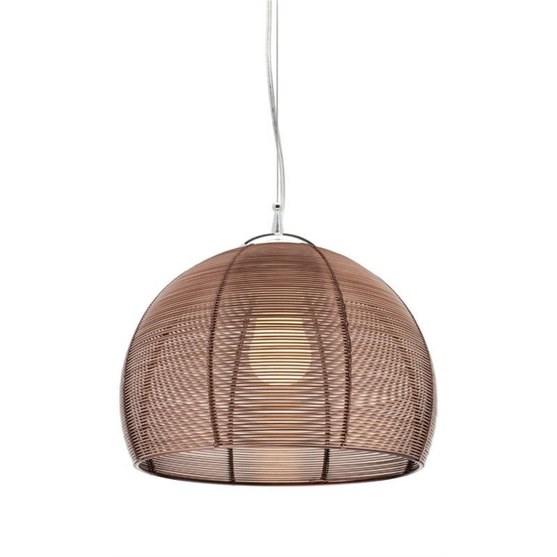 Arden Single Light Pendant Light - Coffee